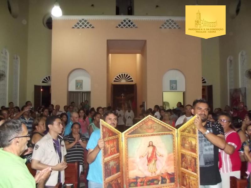 Ano da fé na paróquia, tríptico de aparecida, paróquia de pacajus