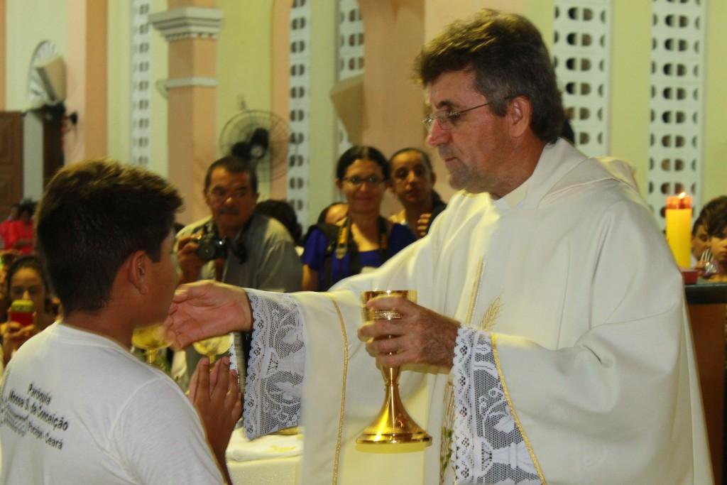 1ª Eucaristia na Paróquia, Igreja em Pacajus, Pacajus, Paróquia de Pacajus